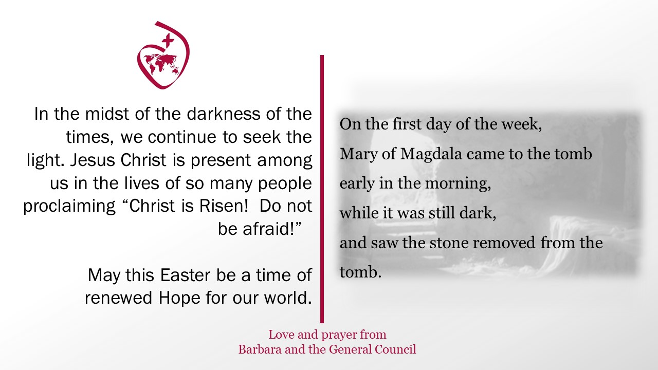 Easter 2021 message from Barbara and General Council