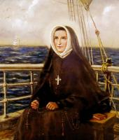 St. Rose Philippine Duchesne on the Rebecca, Oil on Panel, by Margaret Mary Nealis rscj
