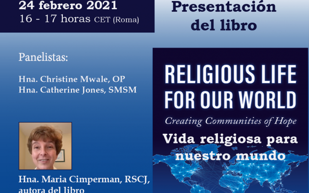 Religious Life for our World event flyer (in Spanish)