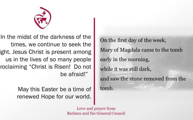 Easter greeting from Barbara and the General Council