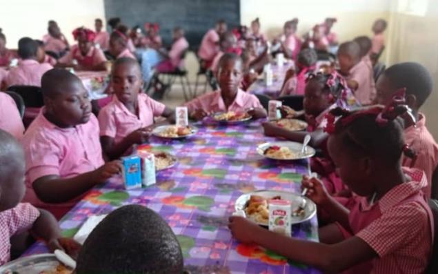 Inauguration of school canteen in Balan, Haiti