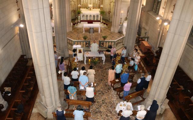 Vocation service in church