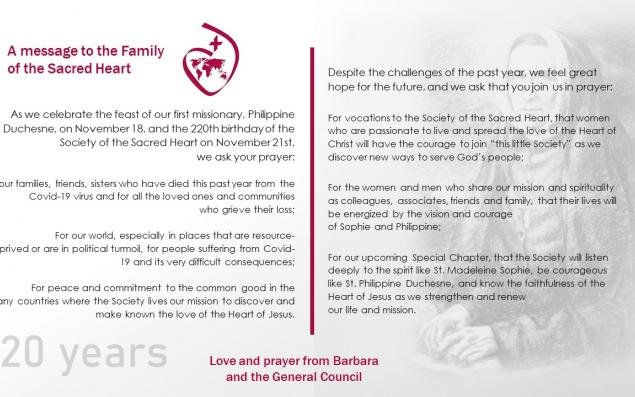 Prayer for the Feast of Philippine and the Society's 220th Birthday