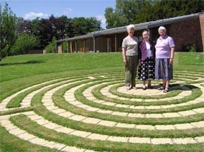 Scotland: Carmel Byrne, Barbra Farquharson, Mary Roe at the Garden Cottage Retreat and Spirituality Centre, Bridge of Earn