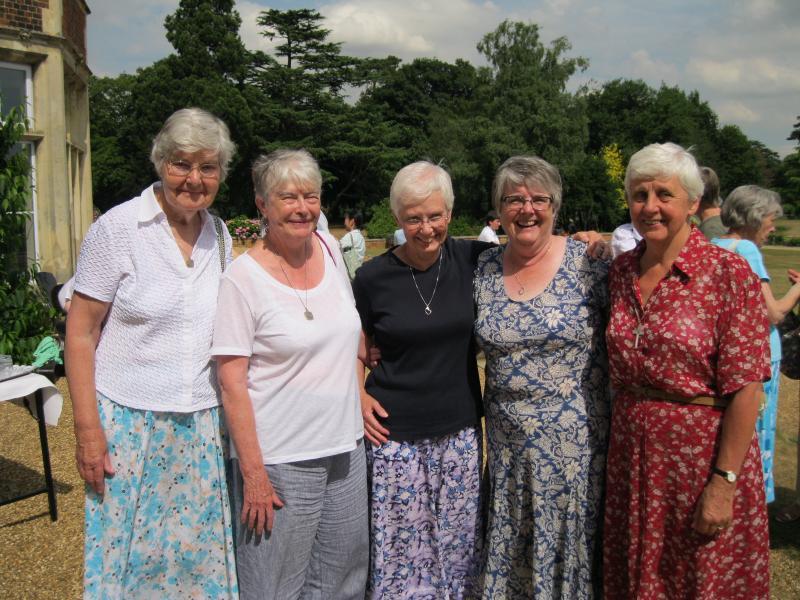 Mary Barrow, Barbara Sweeney, Mary Hinde, Margaret Wilson, and Jane Maltby