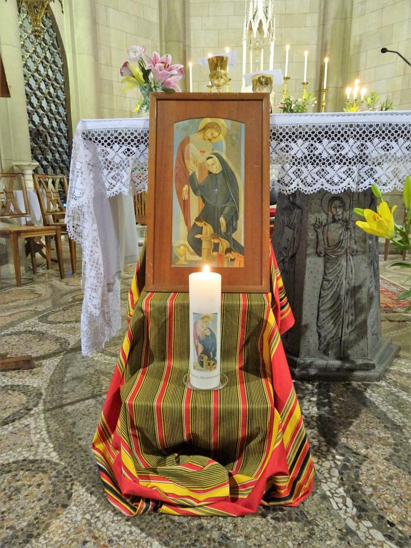 Candle at altar