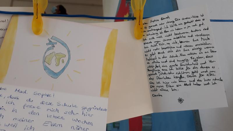 Cartas a Magdalena Sofía escritas por los estudiantes más jóvenes de la escuela en Privatgymnasium Sacré-Coeur - Rennweg 31 - 1030 Wien - Austria