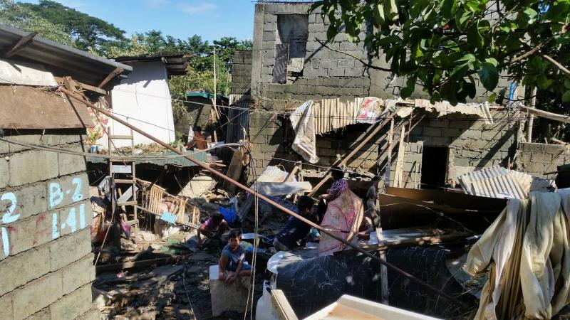 Philippines typhoon - damage in Montalban