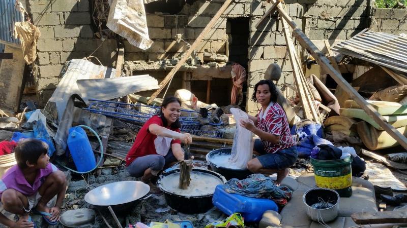 Philippines typhoon - damage in Montalban