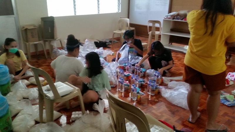 Philippines typhoon - helping out in Montalban