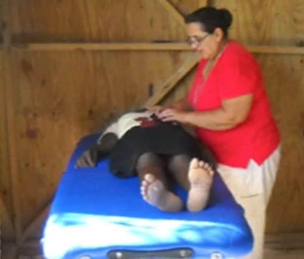 Getting medical help in Haiti