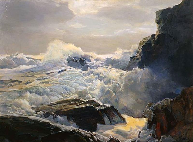 Frederick Judd Waugh - Crashing Waves