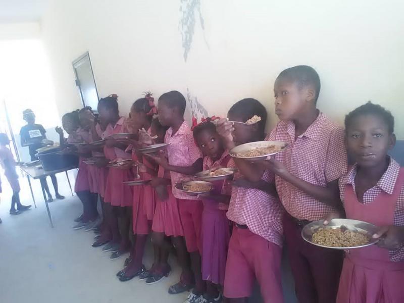 Inauguración de Comedor Escolar en Balán, Haiti