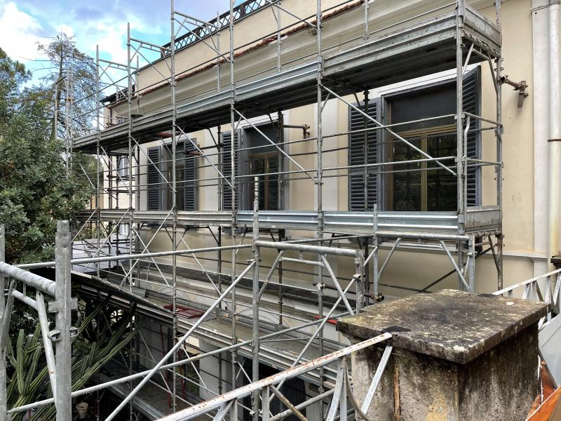 Renovation progress at the Villa Lante