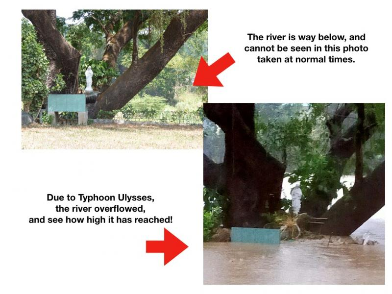 Philippines typhoon - water level