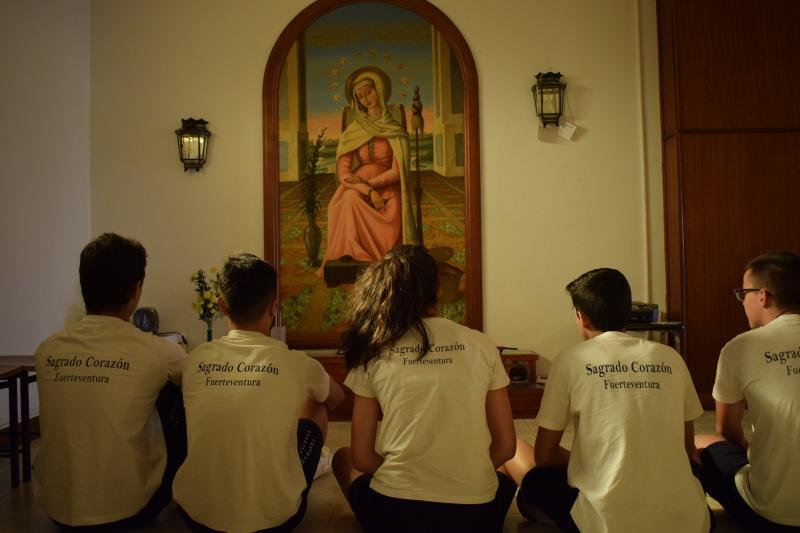 United in prayer in Fuerteventura