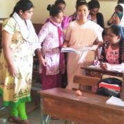 Anita Nazareth and her students