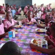 Inauguration of school canteen in Balan, Haiti