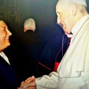 Marga Bofarull and Pope Francis