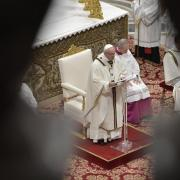 Pope Francis giving the homily for Epiphany 2021