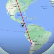 Plane traveling in the Philippine Duchesne region
